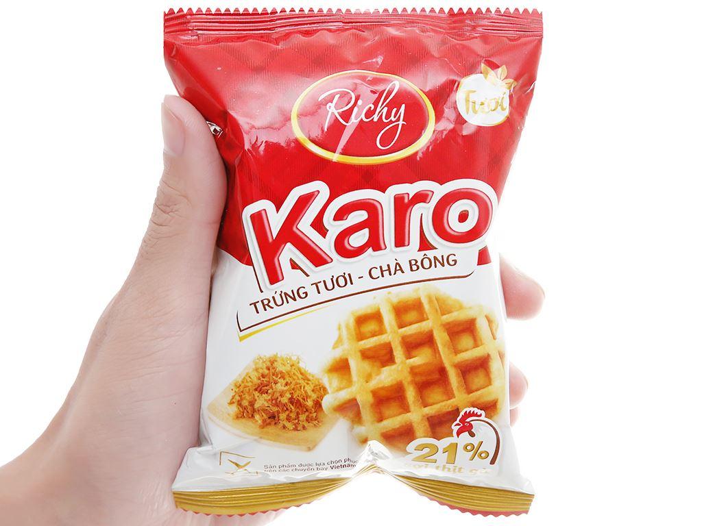Bánh trứng tươi chà bông Karo Richy túi 156g (26g x 6 gói) 8