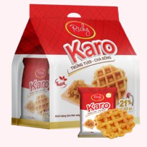 Bánh trứng tươi chà bông Karo Richy túi 156g (26g x 6 gói)