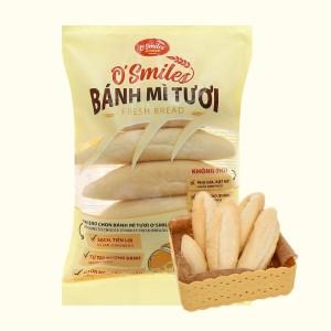 Bánh mì tươi đông lạnh O'smiles gói 350g (70g x 5 ổ)