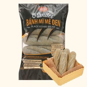 Bánh mì mè đen đông lạnh O'smiles gói 350g (70g x 5 ổ)