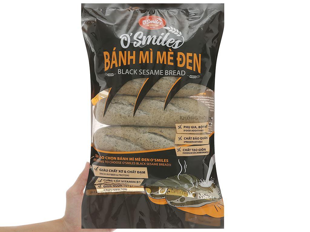 Bánh mì mè đen đông lạnh O'smiles gói 350g (70g x 5 ổ) 8