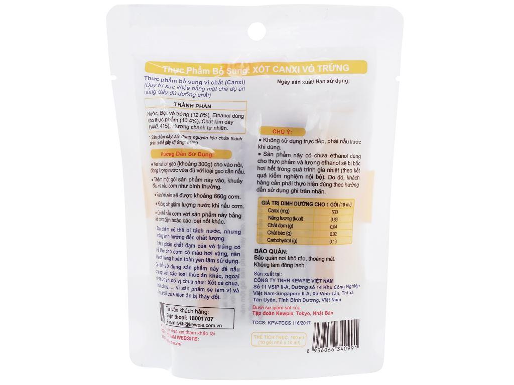 Xốt canxi vỏ trứng Kewpie gói 100ml 2