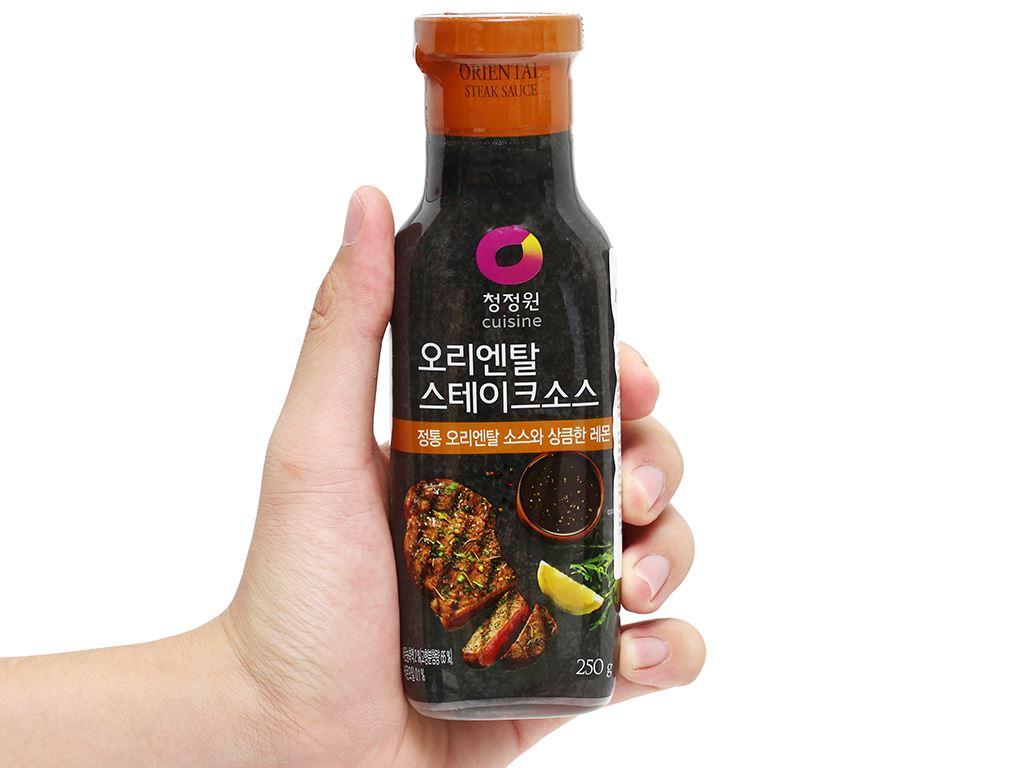 Sốt bít tết Chung Jung One chai 250g 4
