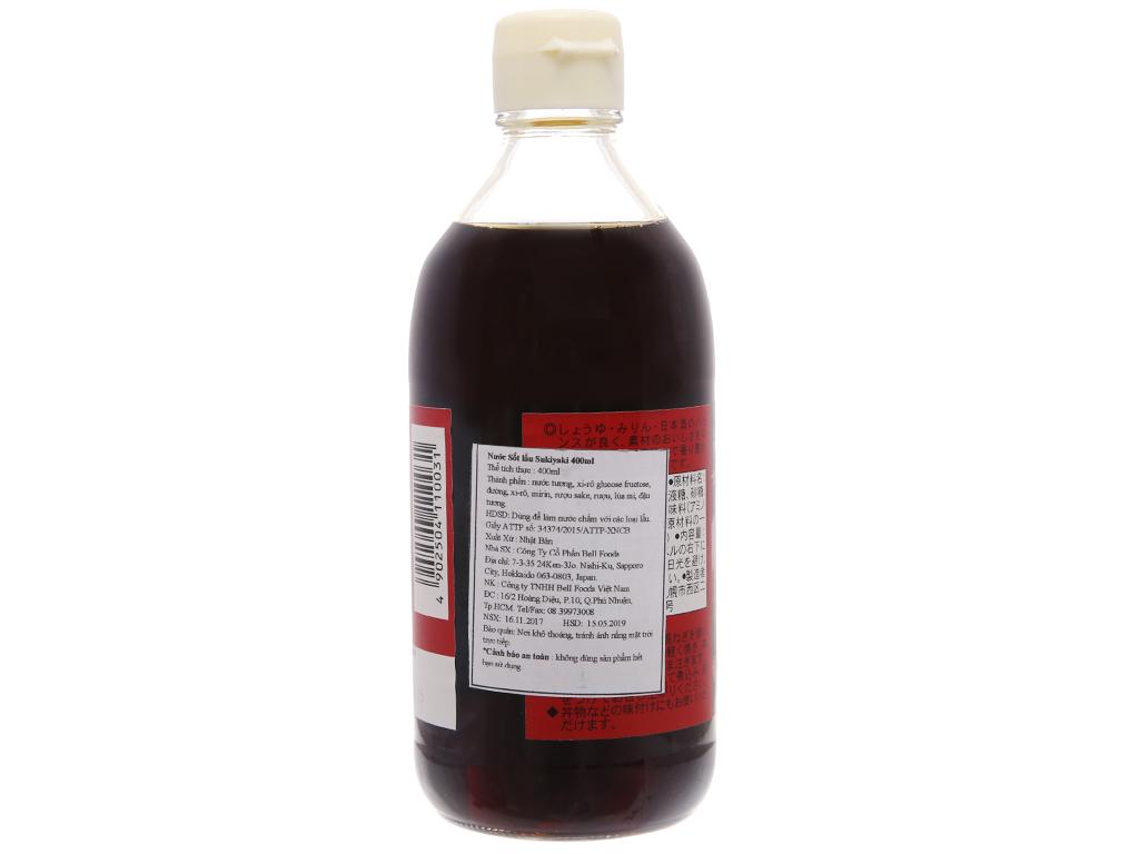 Nước sốt lẩu Sukiyaki Bell chai 400ml 2