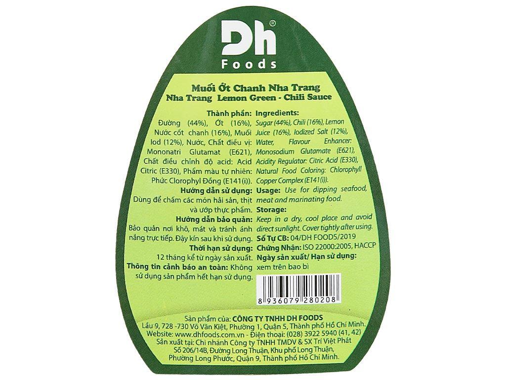 Muối ớt chanh Nha Trang Dh Foods chai 200g 8