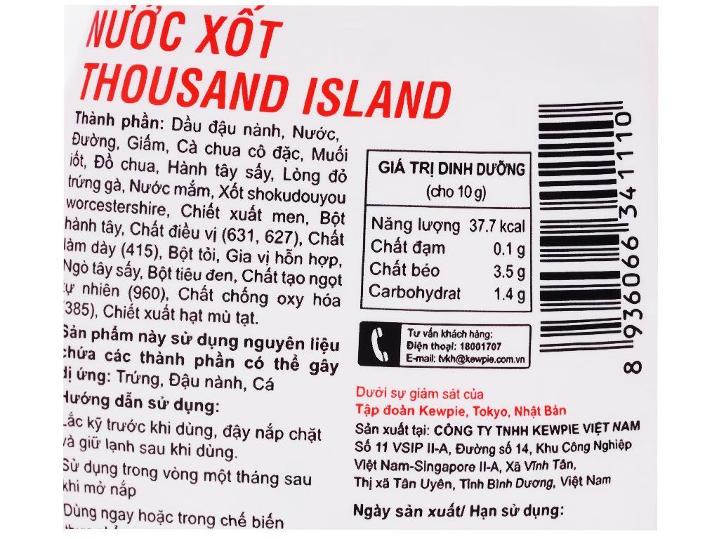 Nước xốt Thousand Island Kewpie chai 210ml 3