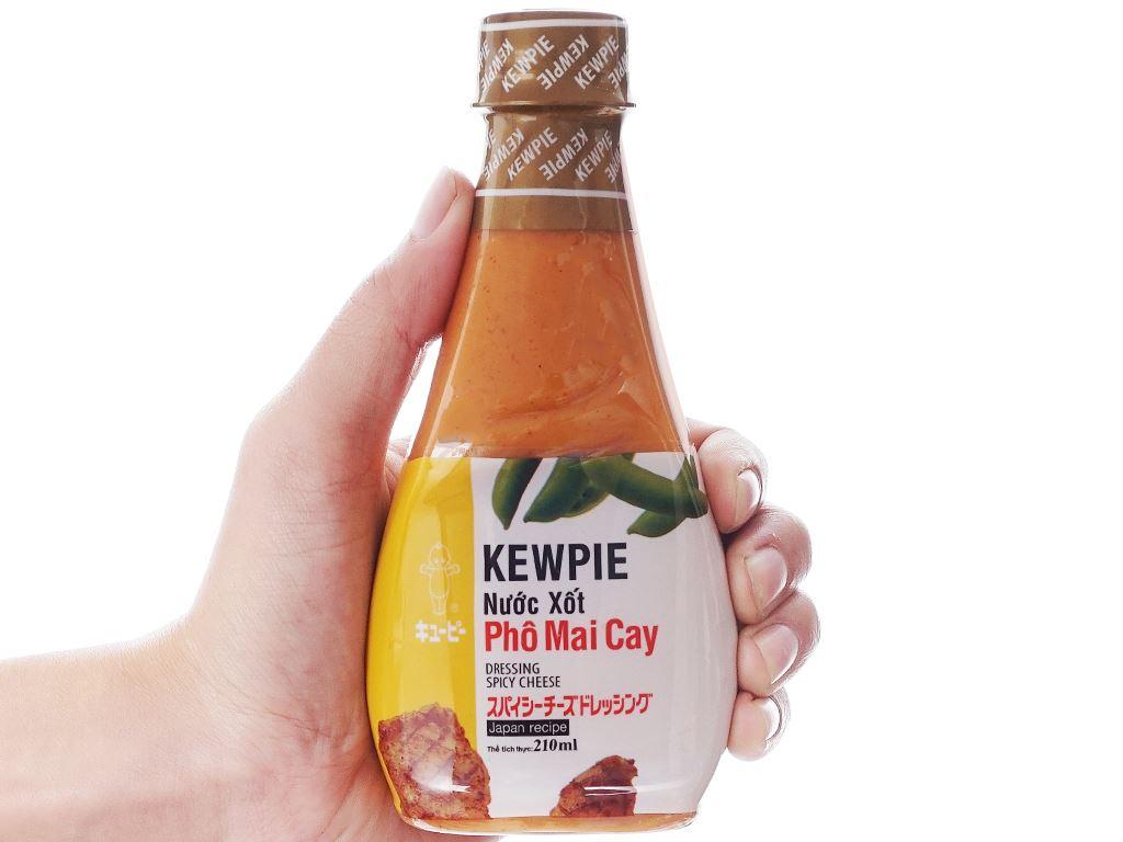 Nước xốt phô mai cay Kewpie chai 210ml 4