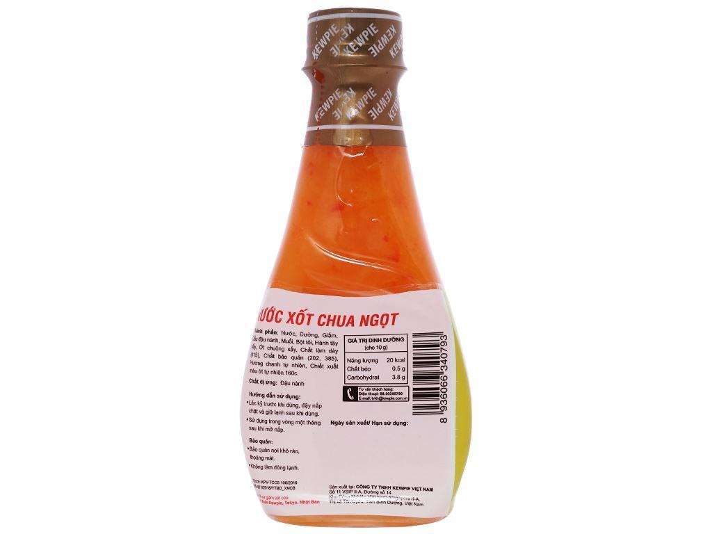 Nước xốt chua ngọt Kewpie chai 210ml 2