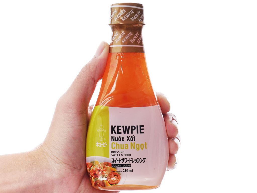 Nước xốt chua ngọt Kewpie chai 210ml 4