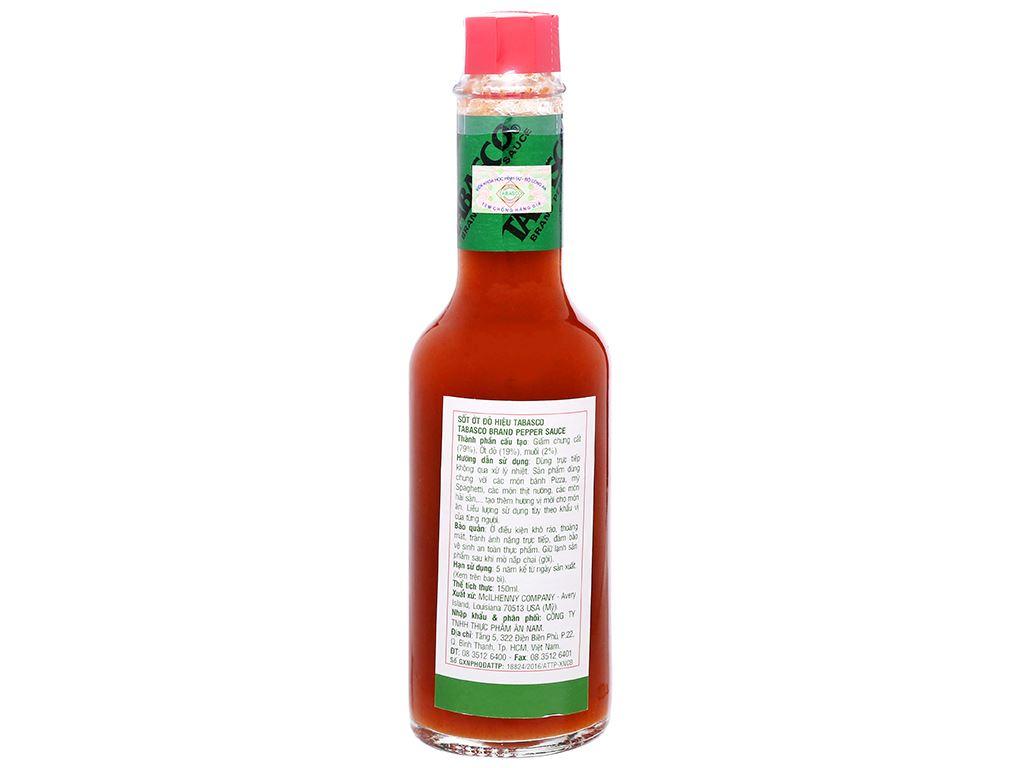Sốt ớt đỏ Tabasco chai 150ml 7