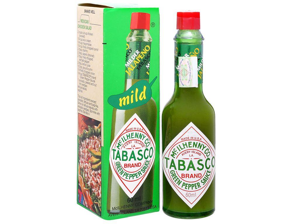 Sốt ớt xanh Tabasco chai 60ml 1