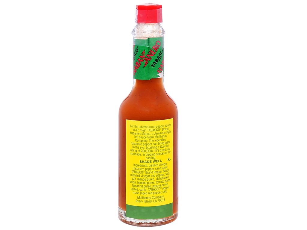 Sốt ớt Habanero Tabasco chai 60ml 7