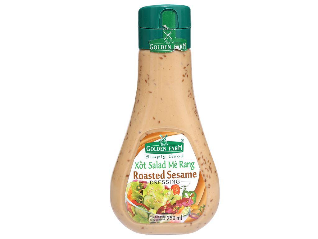 Xốt salad mè rang Golden Farm chai 250ml 1