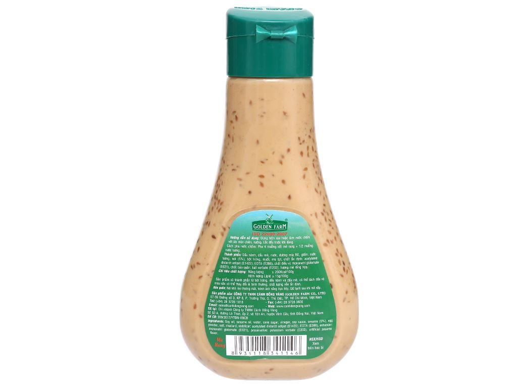 Xốt salad mè rang Golden Farm chai 250ml 2