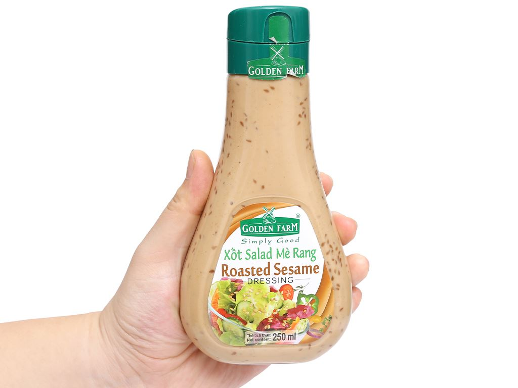 Xốt salad mè rang Golden Farm chai 250ml 4