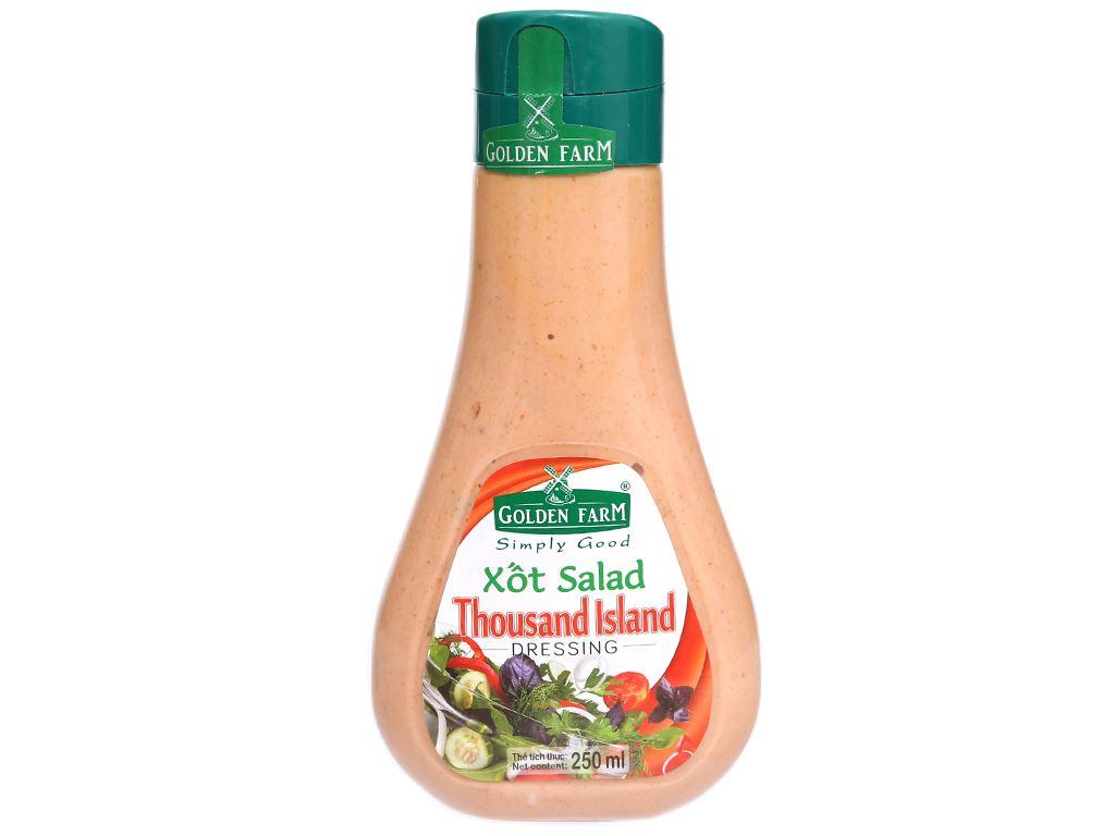 Xốt salad Thousand Island Golden Farm chai 250ml 1