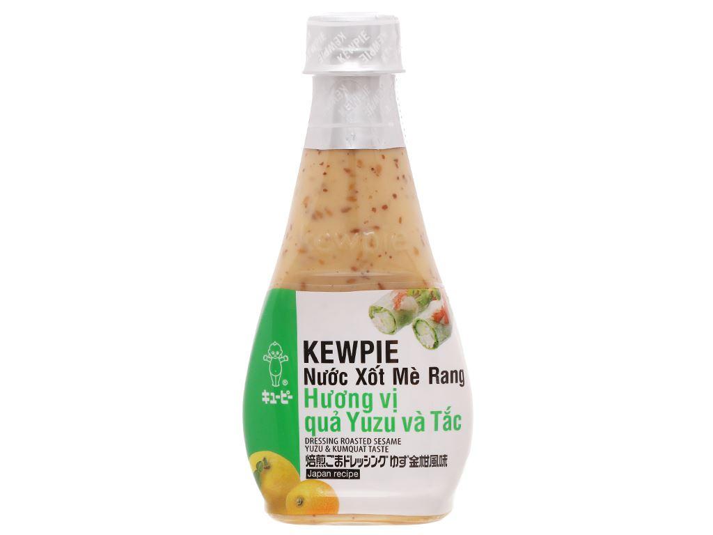 Nước xốt mè rang hương vị quả yuzu và tắc Kewpie chai 210ml 1