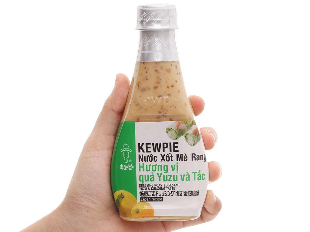 Nước xốt mè rang hương vị quả yuzu và tắc Kewpie chai 210ml 4