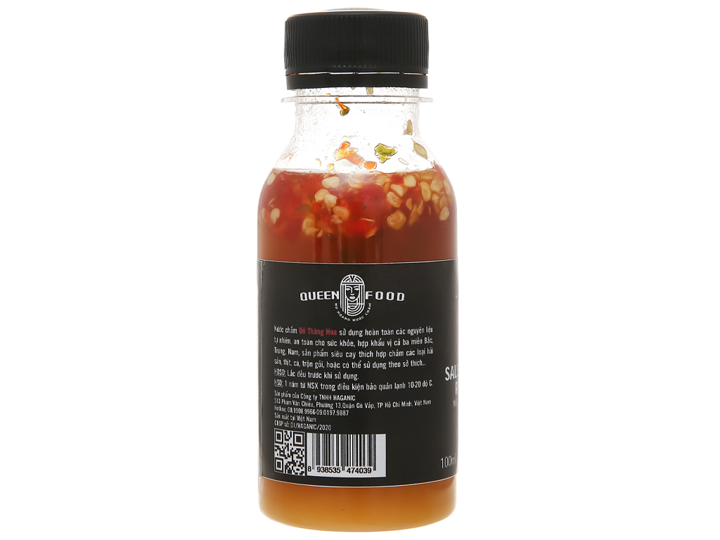 Muối ớt xanh cay nồng Queen Food chai 100ml 3