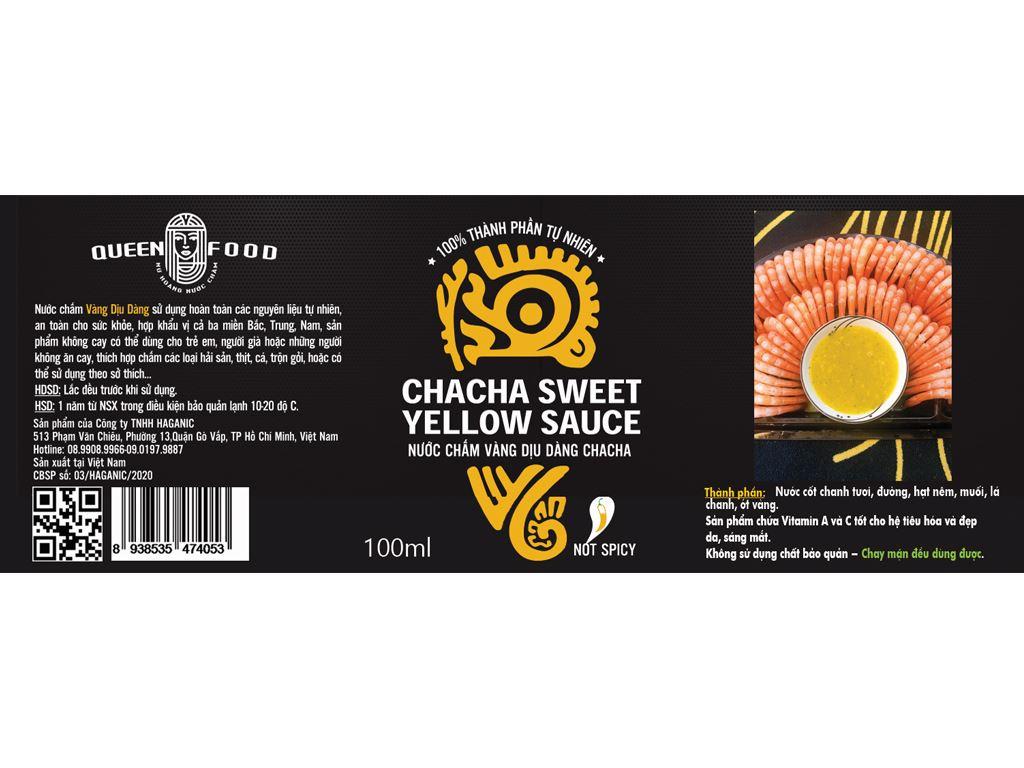 Muối ớt vàng cay dịu Queen Food chai 100ml 4