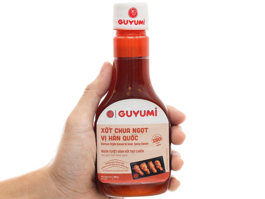 Xốt chua ngọt vị hàn quốc Guyumi chai 200g 4