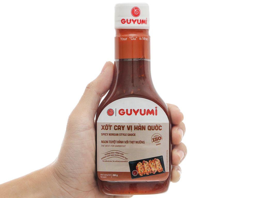 Xốt cay vị hàn quốc Guyumi chai 200g 4