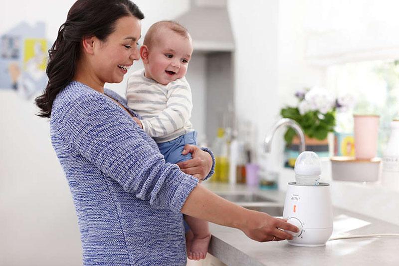 Mẹ tiết kiệm nhiều thời gian hơn - Máy hâm sữa và thức ăn siêu tốc Philips Avent SCF355/00
