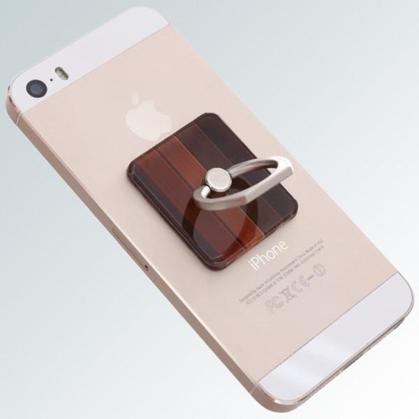 Móc dán điện thoại OSMIA RingCK046 Gỗ Nâu