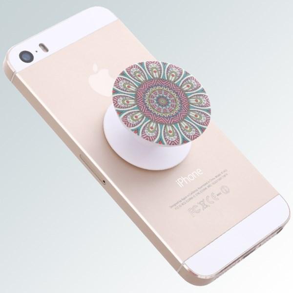 Đế dán điện thoại OSMIA POP005 Hoa Văn Xanh lá