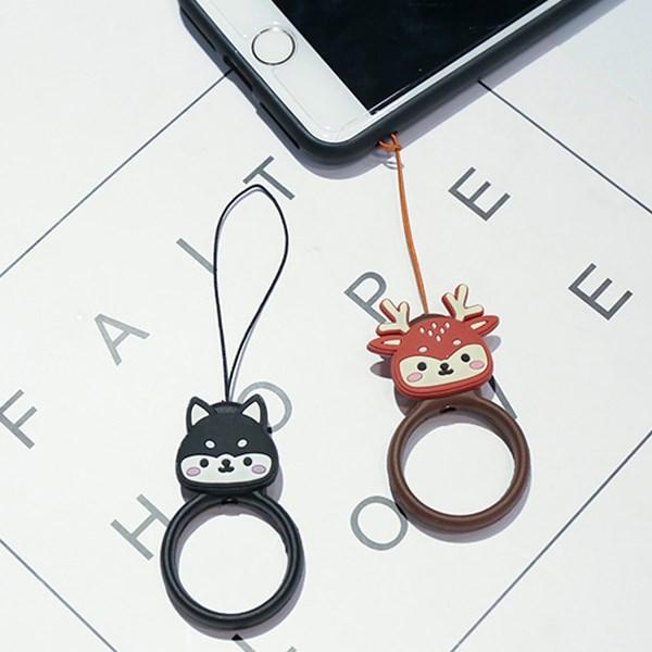 Bộ 2 móc điện thoại nhựa dẻo OSMIA CK-CRS3 Nai Mèo Đen