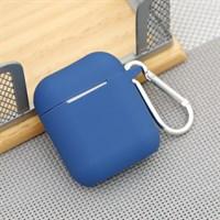 Túi đựng Airpod nhựa dẻo kèm móc JM AP02 Xanh