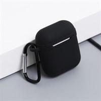 Túi đựng Airpod 2 nhựa dẻo kèm móc JM AP02 Đen