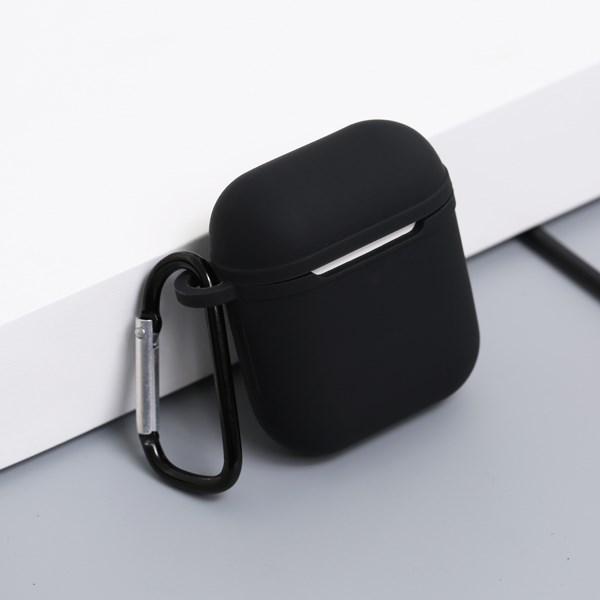Túi đựng AirPods 1 & 2 silicone kèm móc JM AP02 Đen