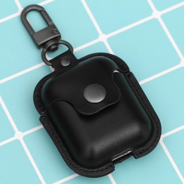 Túi đựng AirPods 1 & 2 nhựa dẻo PU kèm móc JM PL08 Đen