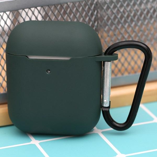 Túi đựng AirPods 1 & 2 silicone JM SN12 Xanh rêu