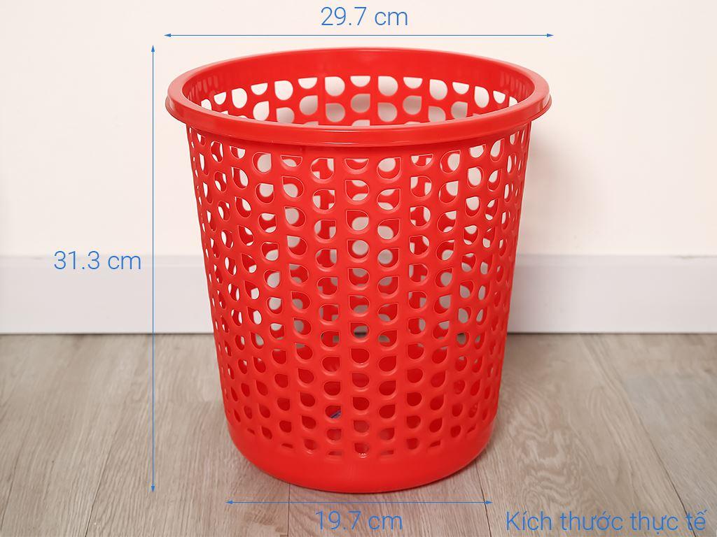 Sọt nhựa tròn trung Duy Tân 31.5x30cm (giao màu ngẫu nhiên) 6