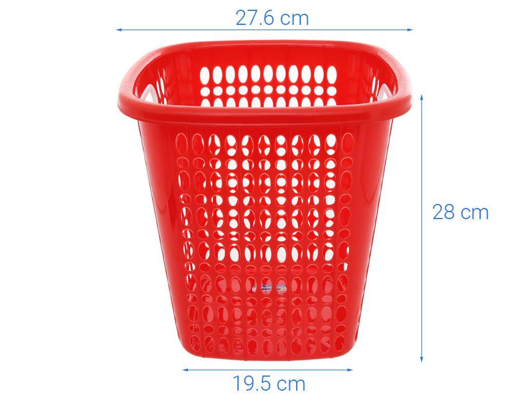 Sọt nhựa mini Oval Duy Tân 27.6x28cm (giao màu ngẫu nhiên) 4