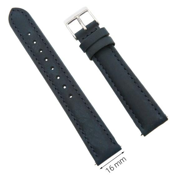 Dây da đồng hồ size 16 mm xanh dương G027