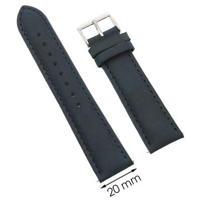 Dây da đồng hồ 20 mm xanh dương G027