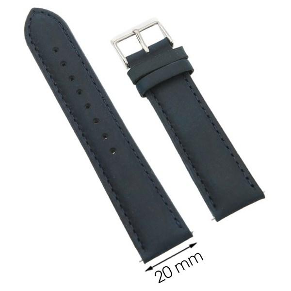 Dây da đồng hồ size 20 mm xanh dương G027