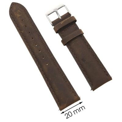 Dây da đồng hồ 20 mm nâu G027