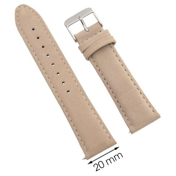 Dây da đồng hồ 20 mm vàng hồng G031