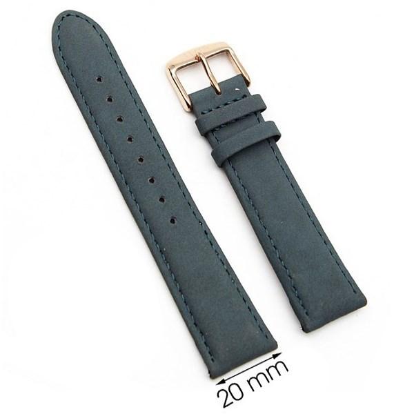 Dây da đồng hồ size 20 mm xanh rêu G031