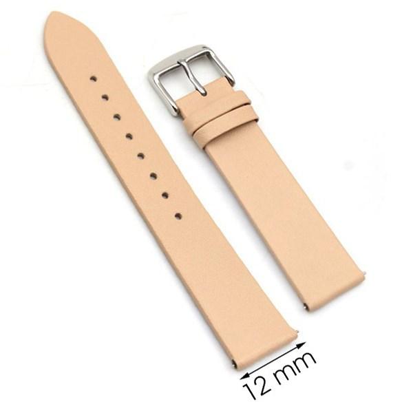 Dây da đồng hồ size 12 mm vàng hồng G067
