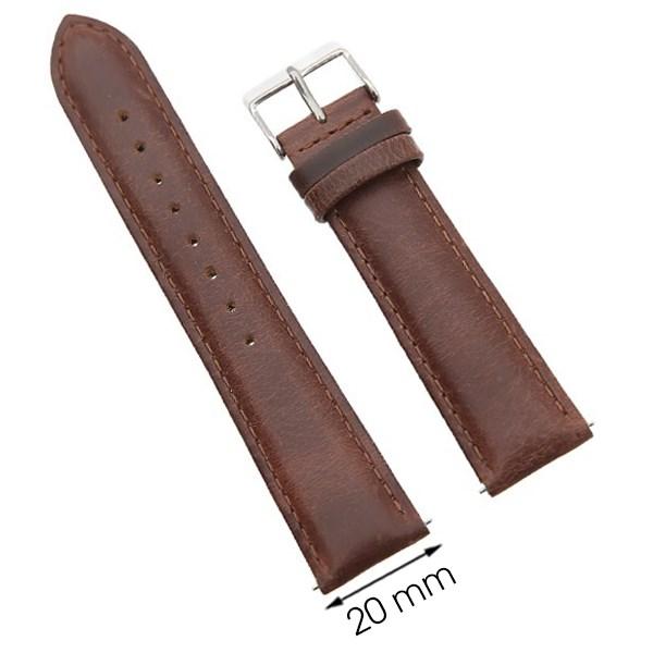 Dây da đồng hồ 20 mm vàng hồng G068