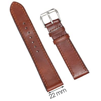 Dây da đồng hồ 22 mm nâu DVM1K1