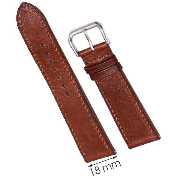 Dây da đồng hồ size 18 mm nâu nhạt DVM2K1