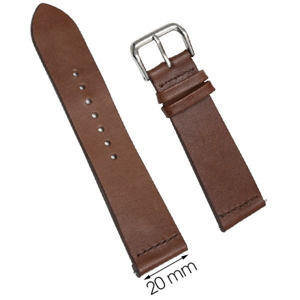 Dây da đồng hồ size 20 mm nâu đậm DVM2K3