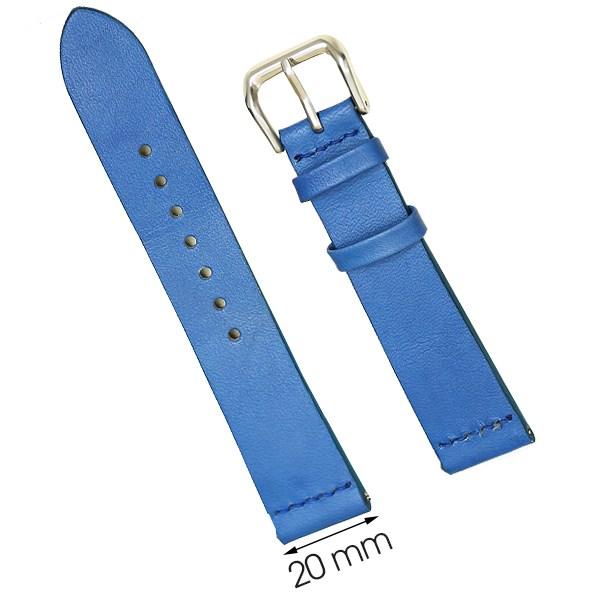 Dây da đồng hồ size 20 mm xanh nhạt DVM2K3
