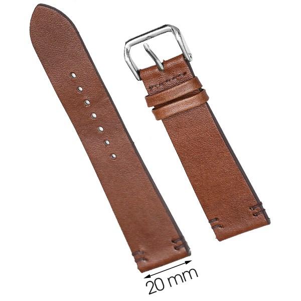 Dây da đồng hồ size 20 mm nâu nhạt DVM2K6